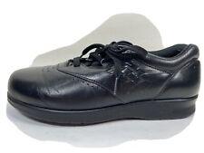 SAS Tripad Comfort Free Time Black Leather Walking Shoes Sz 7.5 Wide