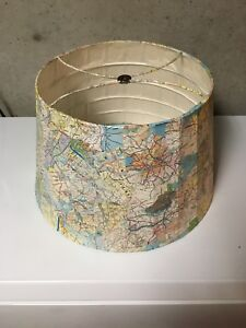 "Handmade 12"" Atlas Lamp Shade"