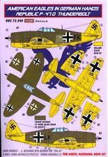 KORA Decals 1/72 REPUBLIC P-47D THUNDERBOLT American Aircraft in German Hands