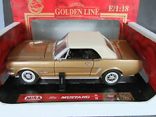 Mira 1964 Ford Mustang Convertible - 1/18 Scale Metallic Gold