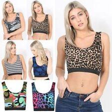 Markenlose ärmellose Damenblusen, - tops & -shirts mit Leoparden