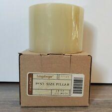 Longaberger Unburned Pint Size Pillar Candle in Crisp Cucumber - Nib