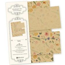 Schönes Briefpapier Set Blumen DIN A4 Motiv Papier Natur optional mit Umschläge