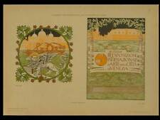 AFFICHE EXPOSITION VENISE -1910 - LITHOGRAPHIE, AUGUSTO SEZANNE, BIENNALE