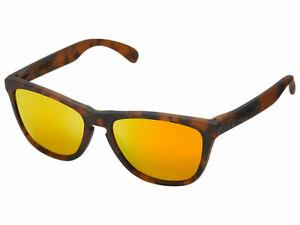 Oakley Frogskins Fall Out Sunglasses 24-416 Matte Brown Tortoise/Fire Iridium