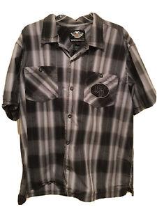 Harley-Davidson Men's Embroidered Button Down Shirt XL