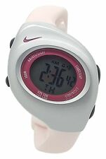 New Nike Kids Triax Junior WR0017 Ice Cream Pink and Silver Digital 38mm Watch