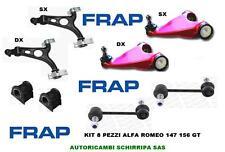KIT BRACCI OSCILLANTI TRAPEZI VEMA + SUP FRAP RACING ALFA ROMEO 147 156 GT