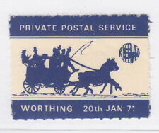 GB: Worthing Private Postal Service stamp, mint, 20 January 1971