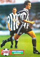 MATCH football magazine retro player picture poster Newcastle United - VARIOUS