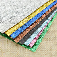 A4 Sparkly Thick Glitter Color Paper Craft  Single Side DIY Card Making Material