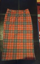 Ladies red tartan pencil skirt from Missguided M/L would fit ladies 10 or 12