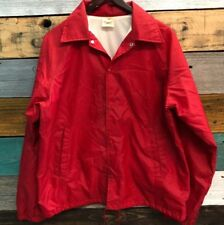 Vintage Auburn Sportswear Red Jacket Size Medium Member Champion Fleet