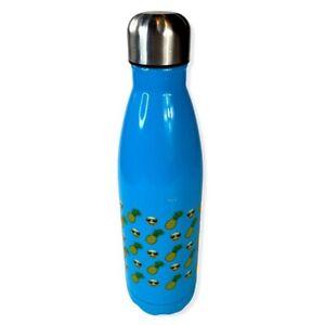 Emoji Blue Stainless Steel Water Bottle Travel