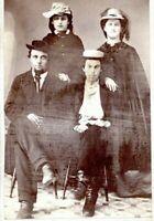 WARREN OHIO CIVIL WAR ERA CDV Four People Husband Wife 1860s Antique Photo