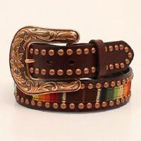 Ariat Women's Serape Brown Leather Belt A1526097