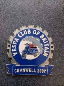 The Vespa Club Of Britain Cog Badge Cranwell Rally 2007