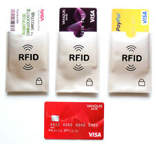 3 X RFID blocking Credit Card protection sleeve only 99p with free delivery