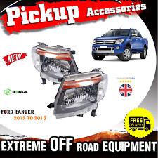 Ford Ranger T6 2012-2015 Kun Head Lamp light Led Projector Ute V6 Front - M74M75