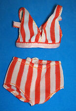 Vintage NEWPORT BARBIE #7807 Original 2-Piece Red & White Striped Swimsuit 1974
