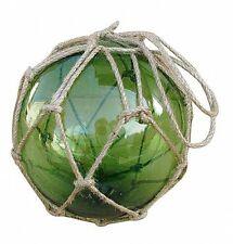 Handgemachte Fischerkugel Glas & Tau - GRÜN 125 - sc-5826