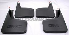 2014-2018 GMC Sierra GM OEM Front & Rear Molded Splash Guards Black Grained NEW