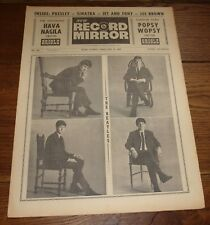 RECORD MIRROR 9 FEBRUARY 1963 THE 1ST BEATLES NATIONAL MUSIC PAPER FRONT COVER