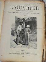 N15 Ancien Journal hebdo Illustré L'ouvrier 1895-1896 35eme Année Paris Bleriot