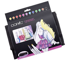 COPIC .TOO MARKER - 12 BRIGHT COLOURS WALLET SET - REFILLABLE WITH COPIC INKS