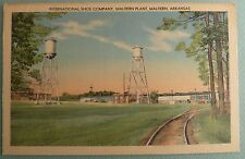 Malvern Arkansas Postcard Vintage Linen International Shoe Company Plant AR PC