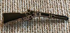 Vintage Shotgun Enamel And Brass Lapel Pin