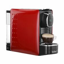 VonShef Hot Drinks Capsule & Coffee Pod Machine 1250W - Red