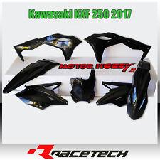 KIT PLASTICHE RACETECH KAWASAKI KXF 250 2017 COLORE NERO R-KITKXF-NR0-519