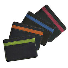 Mens Faux Leather Magic Credit Card Id Money Clip Slim Wallet Holder Healthy