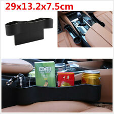 Black PU/ABS Storage Box Organizer Cup Holder Universal For Car Seat Crevice