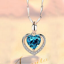 REAL SOLID SILVER 925  Classic Sterling Silver Necklace & Pendant Heart-076