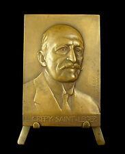 Médaille politicien Lucien Crépy-Saint-Léger Lille par H Soubrica 1938 Medal