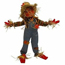 """FESTIVE! SCARECROW 14"""" Thanksgiving Poseable Decoration or Table Decor CHARMING!"""