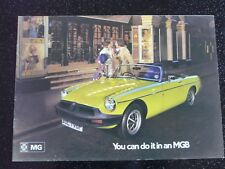 MG MGB CONVERTIBLE ORIGINAL BROCHURE 1975 VGC (ENGLISH TEXT)