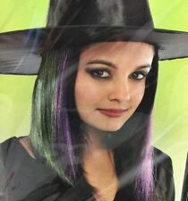 """Halloween Costume Witch Purple & Green 15"""" Hair Extensions Only 5 Pcs 15 Inches"""