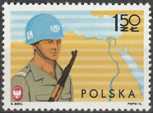 Poland 1976 - Polish troops in United Nations Mission - Fi 2294 MNH**