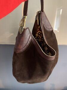 Gucci Shoulder Bag One Hobo Hose Bit Handle Brown Suede R _56984 Authentic