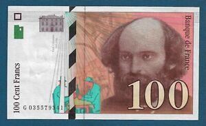100 Cent Francs 1997. France banknote, Paul Cézanne - Original banknotes !
