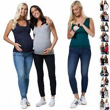 Zeta Ville Damen Mutterschaft Ärmellos 2-Pack Still Tops 1069