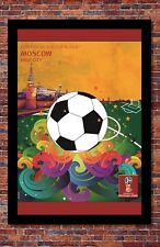 """2018 FIFA World Cup Russia Poster Soccer Tournament   Moscow   13"""" x 19"""""""