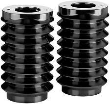 Arlen Ness Black Retro Fork Boot Covers for 1986-2013 Harley FLHT FLHX 20-004