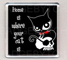 RUBY GLOOM HOME IS WHERE YOUR CAT IS  fridge magnet