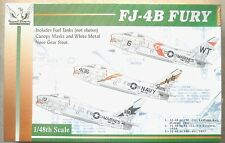 Grand Phoenix 1/48 FJ-4B Fury w/fuel tanks, canopy masks & nose gear strut