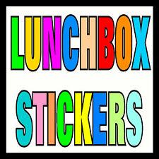 Personalizado Lunchbox nombre Stickers-Escuela paquete de almuerzo