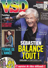 VSD . Dec 2014 . PATRICK SEBASTIEN . SEGOLENE ROYAL . PARIS / DAKAR . WILLEM